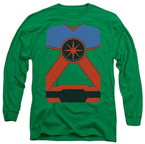 Long Sleeve: Justice League - Martian Manhunter Costume Tee Longsleeve Shirt Size M (Martian Manhunter Costume)