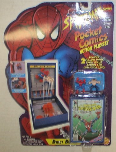 Marvel Spiderman Daily Bugle Pocket Comics Action Playset