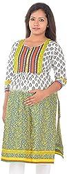 Ziva Maternity Wear Women Cotton Tops (ZMN1501_S, Yellow Printed, S)