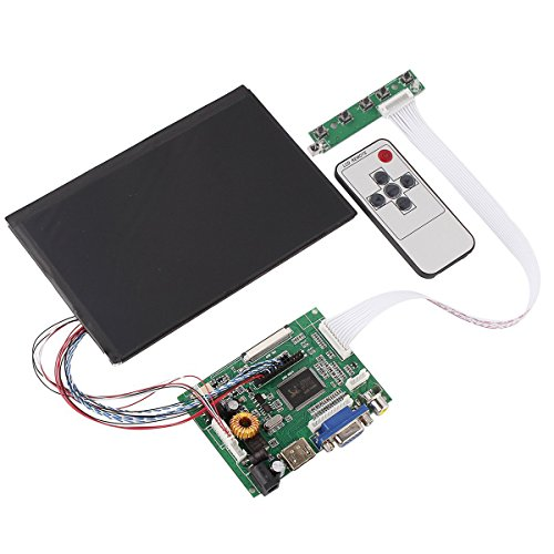 Tontec 7 Inches High Resolution 1280*800 Ips Screen With Remote Driver Control Board 2Av Hdmi Vga For Raspberry Pi