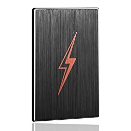 128GB External SSD Hard Drive FT Three3-Fast Data Storage & Transfer For Desktop Computer & Laptop-Slim Solid State Backup Drive-Top Rated Compact & Durable Memory With USB 3.0 UASP-128GB-256GB-512GB