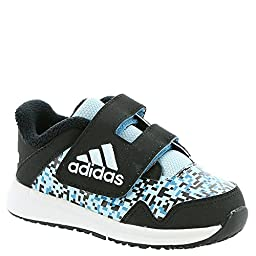 adidas Performance Baby Snice 4 CF I Sneaker, Black/Ice Blue Craft/Blue Fabric, 4 M US Infant