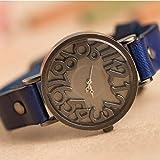 5 Colors Fashion Vintage Quartz Leather Band Women Ladies Wrist Watches by Women Watch