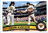 2011 Topps Update Series Baseball Card #US297 Chase d'Arnaud Pittsburgh Pirates In Protective Screwdown Case!