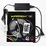 SUPERNIGHT (TM) Colorful Color Changing Flexible Strip Light Kits Waterproof Bathroom Lighting Garden Lighting Under Cabinet Lighting LED Backlights Music Party Birthday Celebration Strip Including Power Adapter Remote Controller