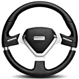 Momo MEVO35BK1P Millenium Evo 350 mm Leather Steering Wheel
