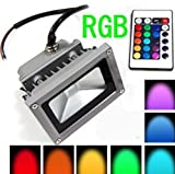 16 Color Tones RGB LED Flood Light for Illumination and Beautification of Home Hotel Garden Landscape
