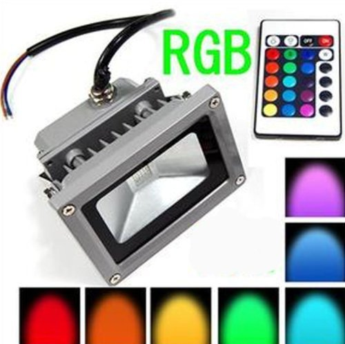 Remote Control 10W Rgb Waterproof Led Flood Light (16 Different Color Tones) front-697019