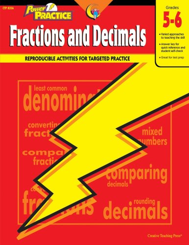 Power Practice Fractions and Decimals, Gr. 5-6