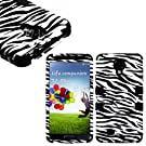 """myLife Black - Zebra Stripe Design (3 Piece Hybrid) Hard and Soft Case for the Samsung Galaxy S4 """"Fits Models: I9500, I9505, SPH-L720, Galaxy S IV, SGH-I337, SCH-I545, SGH-M919, SCH-R970 and Galaxy S4 LTE-A Touch Phone"""" (Fitted Front and Back Solid Cover Case + Internal Silicone Gel Rubberized Tough Armor Skin)"""