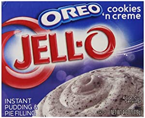 Jell-O Instant Pudding & Pie Filling, Oreo Cookies 'n Creme, 4.2-Ounce Boxes (Pack of 24)