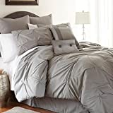 Ella 8-piece Embellished Comforter Set Queen Platinum