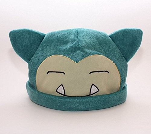 1 X Pokemon Snorlax Cosplay Soft Cute Plush Toy Cap Warm Soft Hat