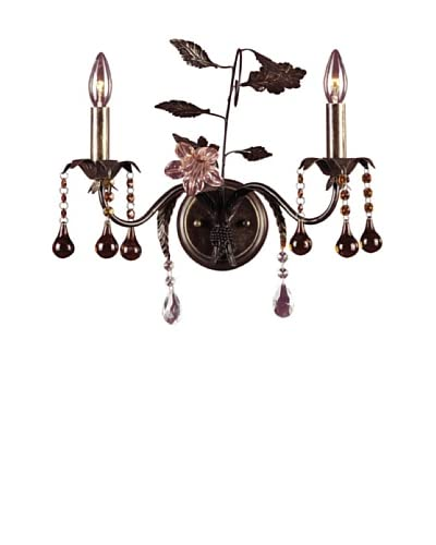 Artistic Lighting 2-Light Hand Blown Florets Sconce, Deep Rust As You See