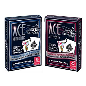 Cartamundi Ace 100% Plastic Casino Cards