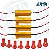 4PCS ARTR 50W 6ohm Load Resistors - Fix LED Bulb Fast Hyper Flash Turn Signal Blink Error Code