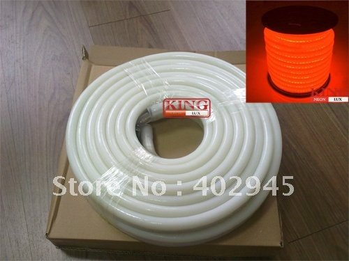 10M Per Reel Led Neon Flex Orange Led Soft Neon Light Led Flexible Neon Strip Led Neon Rope Lights 240V 80Pcs/M