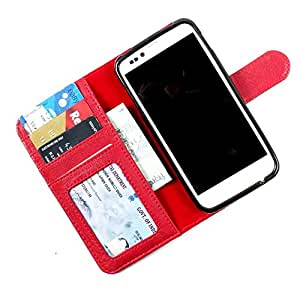 For Lava Xolo Q3000 - PU Leather Wallet Flip Case Cover