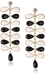 Black and White Linear Earrings