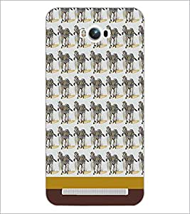 PrintDhaba Zebra pattern D-1808 Back Case Cover for ASUS ZENFONE MAX ZC550KL (Multi-Coloured)