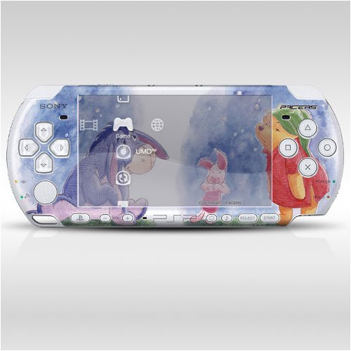 Pacers Pooh Friends Decorative Protector Skin Decal Sticker For Psp-3000 Item No. 0859-18