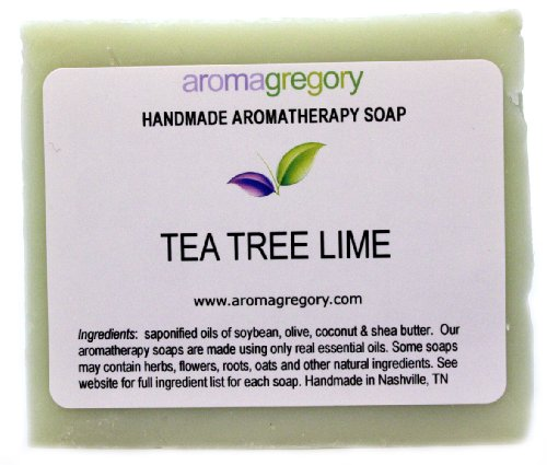 Aromagregory All Natural Aromatherapy Tea Tree Lime Soap, 4 Oz.