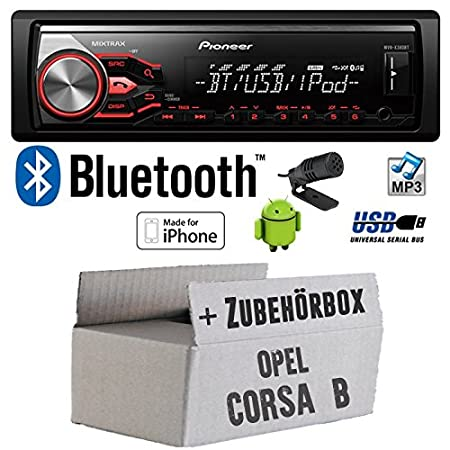Opel corsa b-pioneer x380BT mVH-autoradio bluetooth mP3/uSB avec kit de montage