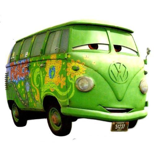 Hippie bus van in Disney Cars Movie Iron On Transfer for T-Shirt