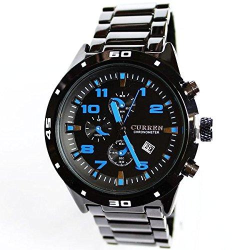Men's Casual Charm Elegant Steel Waterproof Watch Blue