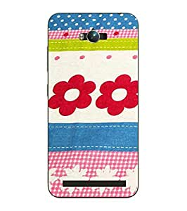 Snazzy Printed Multicolor Hard Back Cover For Asus Zephone Max