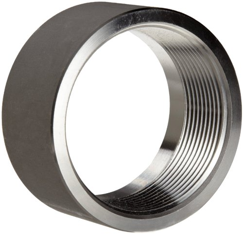 """Stainless Steel 316 Pipe Fitting, Half Coupling, Class 1000, 1/4"""" NPT Female X Plain"""