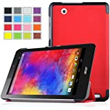 VSTN ® Acer Iconia One 8 B1-810 ultra-thin Smart Cover Case , Only fit Acer Iconia One 8 B1-810 tablet (Red)