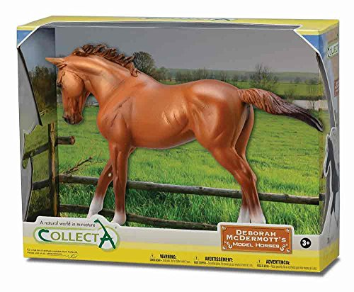 CollectA Thoroughbred Mare in Window Box (1:12 Scale), Chestnut
