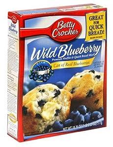 Betty Crocker Muffin Mix & Quick Bread Mix Premium Wild Blueberry 18.25 Oz 3 Packs