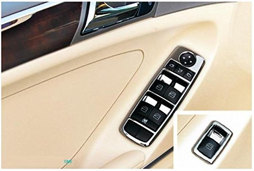 Chrom Rahmen für Tür Fenster Schalter Mercedes A B C CLA E GL GLK ML Klasse