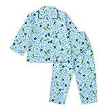 【ノーブランド品】 綿100% 長袖 キッズ パジャマ 春 秋 向け 恐竜とキラキラ星のパジャマ ボーイズ 100サイズ ブルー
