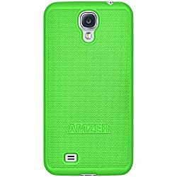 Amzer 95582 Snap on Case - Neon Green for Samsung GALAXY S4 GT-I9500