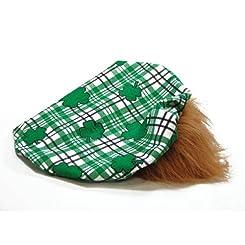 Red Hair Wig & Irish Hat St Patricks Day Costume