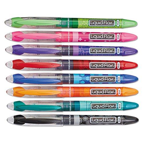 PAP28503 - Paper Mate Liquid Flair Porous Point Stick Pen (Liquid Expresso Fine Point compare prices)