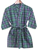 Private Label - Boys Plaid Fleece Robe, Green
