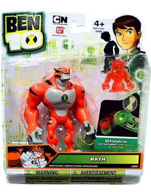 Picture of Bandai Ben 10 Alien 4 Inch Action Figure Ultimate Rath Includes Minifigure (B005804EIG) (Ben 10 Action Figures)