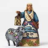 "Jim Shore for Enesco Heartwood Creek Shepherd-Black Sheep Mini Nativity Figurine, 4"""