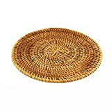 BRILA Hand-woven Rattan Coaster, Teapot coasters, exotic table decoration and creative gift (6.3