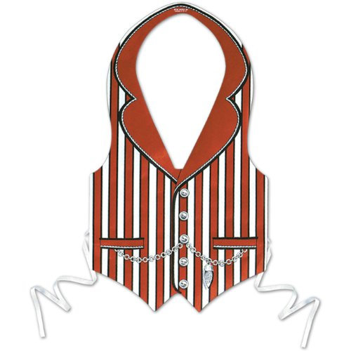 Plastic Roaring 20's Vest (red) Party Accessory  (1 count)