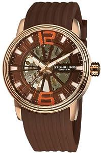 Stuhrling Original Men's 1078.3346K59 Classic Delphi Achilles Automatic Skeleton Brown Watch