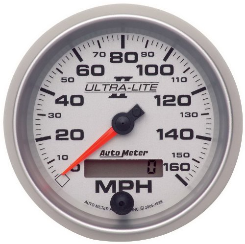 "Auto Meter 4988 Ultra-Lite Ii 3-3/8"" 160 Mph In-Dash Electric Programmable Speedometer"