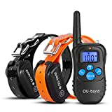 OU-BAND Dog Training Collar 330 Yards Remote Waterproof Shock Collar with Beep/Vibration/Shock Electric E-collar