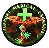 Support Medical Cannabis / Marijuana vinyl sticker (1)