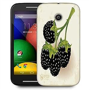 Snoogg Blackberries Vector Designer Protective Phone Back Case Cover For Motorola E / Moto E