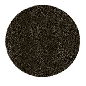 william armes fiji tapis rond noir 100 cm. Black Bedroom Furniture Sets. Home Design Ideas